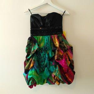 Speechless strapless dress.